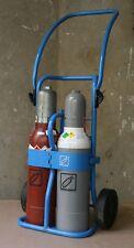 Eigentumsflaschen Sauerstoff 5 Liter 200 bar / Acetylen 5 Liter / Flaschenwagen