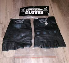 WWF WWE Undertaker American Badass ABA Superstar Gloves Large vtg 2000 Leather