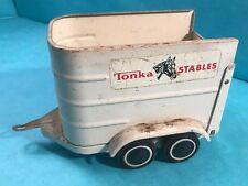 Vintage TONKA STABLES HORSE TRAILER Metal Toy No Cover