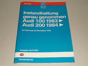Manuel D'Atelier Entretien Audi 100 200 C3 44 Support 04/1991