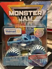 2019 Hot Wheels  Monster Jam Fire And Ice Walmart Exclusive Blue Thunder