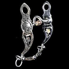 Vintage German Silver Stainless Steel Polo Port Roller Sonora Cheek Filigree Bit
