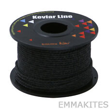 NEW 100ft 200lb Black Braided Kevlar Line Cord Outdoors Camping Fishing Hunting