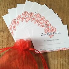 DATE NIGHT VOUCHERS Promise Cards -His Hers Partner Anniversary Birthday Gift