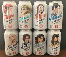 8 collectible Archibald 355ml Empty beer can AMAZING GRAPHIC! Pin Up Girl Canada