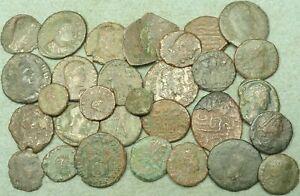LOT OF 25 ROMAN BRONZE COINS