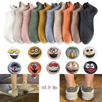 Women Cute Cotton Socks Fashion Cartoon Ankle Socks Embroidered Expression New