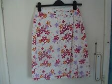 WOMENS FAT FACE SKIRT WRAP ROUND SKIRT SHORT SIZE 8 FLORAL PATTERN