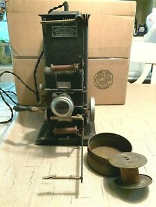 Vintage Antique Keystone Moviegraph Model 198W 35mm Hand Cranked Movie Projector