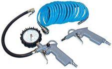 Güde Druckluft-Set, 3-tlg Reifenfüller Ausblaspistole Spiralschlauch 5 m  Pumpen