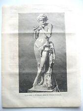 stampa antica old print IL PIFFERAIO STATUA GIOVANNI EMANUELI CENTENARI 1878