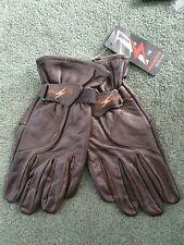 BROWN PRO SPEED LEATHER BIKER MOTORCYCLE / DRIVING GLOVES. CLASSIC LOOK