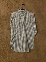 Banana Republic Long Sleeve Soft-Wash Check Button Down Shirt Medium Slim Fit