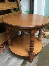 Tell City Chair Company Solid Hard Rock Maple Round End Table Andover