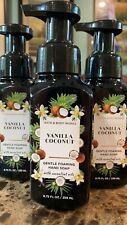 3 BATH & BODY WORKS VANILLA COCONUT GENTLE FOAMING HAND SOAP WASH 8.75 OZ