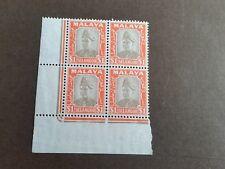 MALAYSIA/SELANGOR 1941 SG 86 $1 DEFINITIVE BLOCK OF 4 MNH (N)