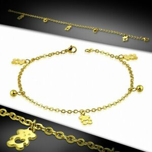 Bracelet Ankle Stainless Steel Links Chains Pooh Plush Toy
