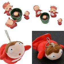 PONYO HAYAO MIYAZAKI Studio Ghibli Figures Toy plush doll Keychain 5pcs set