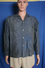 Vtg '50s Penneys Towncraft Wash N Wear sharkskin loop collar L/S shirt M