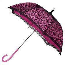 Gorgeous Modern Victorian Pink/Black Lace Umbrella/Parasol.