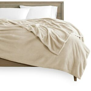 Microplush Velvet Fleece Blanket - Premium Ultra Soft - Easy Care - Warm & Cozy