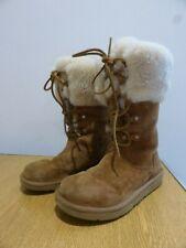 Ugg Australia Montclair boots chestnut suede sheepskin cuff EU36 UK 3.5 VGC