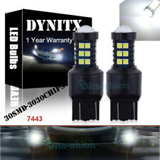 Led Xenon White T20 7443 W21/5w Daytime Running For Fiat 500 2007 Abarth #Canbus