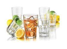 Libbey 16-Piece Boston Drinkware Set Glass Cups Drinking Set