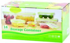 Euro-Home Cl469 Click And Lock 14 Piece Boxed Storage Containers, Multicolor