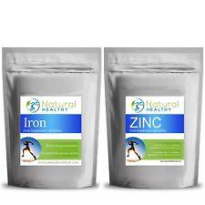 IRON + ZINC TABLETS - HEALTHY LIVING SPORT SUPPLEMENT - ENERGY PRODUCTION PILLS