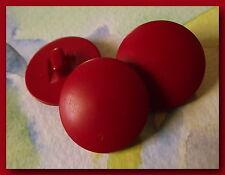 LOT 5 BOUTONS Rouge Vif Neufs  22 mm   2,2 cm pied Mercerie confection sewing