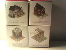 4 Mint Unused Liberty Falls Miniatures - Clothier - Brewery - School - Library