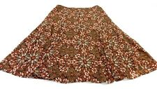 ANN TAYLOR LOFT WOMEN'S PINK & BROWN CHIFFON FLORAL SKIRT SIZE 10 SUPER CUTE!
