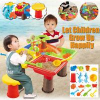 2 in1 Sand und Wasserspieltisch Sandkastentisch Kinderspieltisch Strandspielzeug