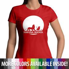 Disney Lion King Hakuna Matata Funny Womens Juniors Cotton Tee Crew Neck T-Shirt