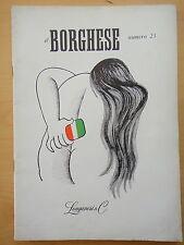 1954-IL BORGHESE-Direttore LEO LONGANESI-Anno V, Numero 23
