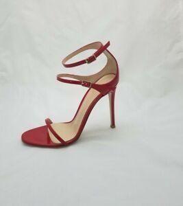 Gianvito Rossi Red Sandals Heels 37 floor sample