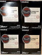 Tully's Hawaiian Blend Coffee K-Cups, 96/Carton Exp 5/21 Free Shipping B4