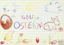 "Postkarte, Osterkarte, ""Frölige Ostern"""