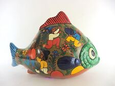 Mexican Tiaquepaque Pottery Hand Painted Fish