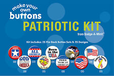 Badge-A-Minit - Patriotic Themed Make-Your-Own Button Kit New! #TBK4
