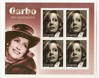 SS3 Sweden MNH S/S cinema stamps Greta Garbo 2005 movie star Scott #2517d 2517 d