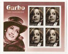 sw5 Sweden Suede MNH souvenir sheet Greta Garbo 2005 Facit C/V $125.00