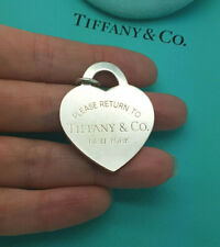 Return to Tiffany & Co. Silver XL EXTRA LARGE Heart Tag Pendant Charm ONLY!