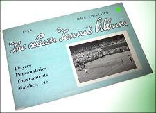 Vintage LAWN TENNIS ALBUM 1950 Wimbledon Wightman Davis Cup Drobny Schroeder