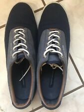 Men's Tommy Hilfiger Shoes, Size 12, Navy Blue w/ Granite & Brown, TTMPHELIPO
