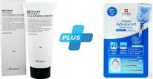 BENTON Honest Cleansing Foam 150g + LEADERS EX Solution Advanced Facial Mask