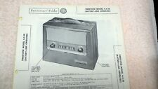 Firestone Portable Radio Model 4-C-18 Sams Photofacts Folder