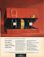 PUBLICITE ADVERTISING   1965  OMEGA  MONTRES FEMME