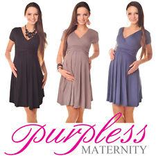 New Maternity Short Sleeve Summer Dress Pregnancy Size 8 10 12 14 16 18 8417